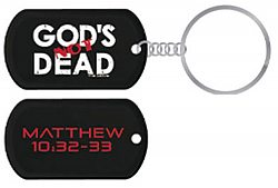 God's Not Dead: Black Dogtag - Keychain