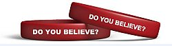 Do You Believe? - Red Silicone - Bracelet