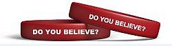 Do You Believe? - Red Silicone - Bracelet