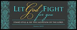 War Room: Let God Fight For You (Blue Script) - Plaque