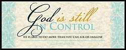 War Room: God Is Still In Control (Blue) - Plaque