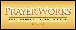 War Room: Prayer Works (Gold) - Plaque