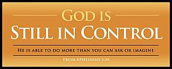 War Room: God Is Still In Control (Gold) - Plaque
