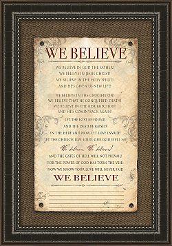We Believe - Family Declaration - Framed Art