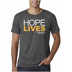 90 Minutes in Heaven: Hope Lives (Gray, X-Large) - T-Shirt
